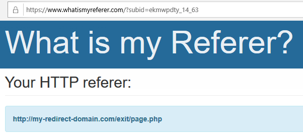 referrer own domain
